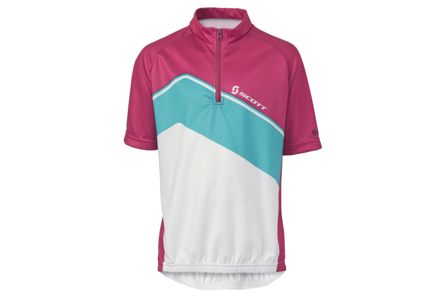 Scott JR Essential B Shirt cerise pink ocean blue