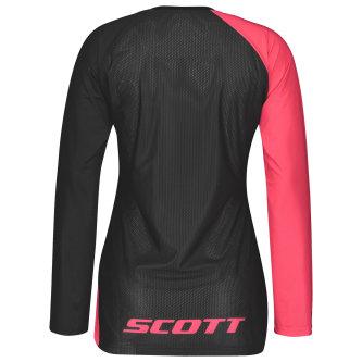 Scott Trail Vertic Damen-Shirt l/sl azalea pink/black