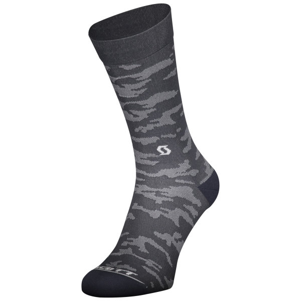 Scott Trail Camo Crew Sock dark grey/white