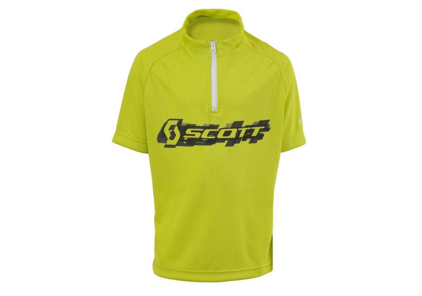 Scott Shirt JR Logo kurzarm lime green